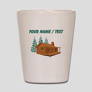 Custom Cabin In The Woods Shot Glass