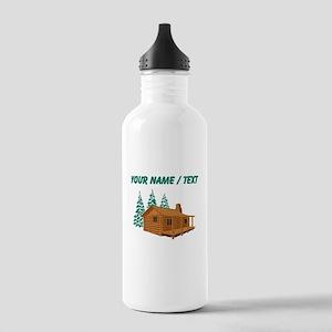 Custom Cabin In The Woods Water Bottle