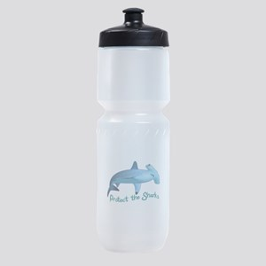 PROTECT THE SHARKS Sports Bottle