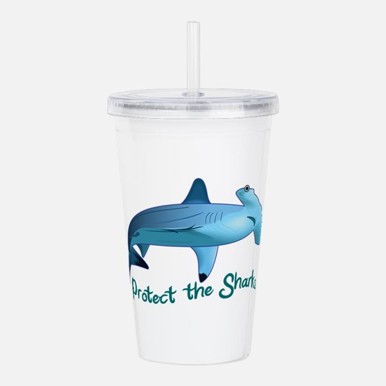 PROTECT THE SHARKS Acrylic Double-wall Tumbler