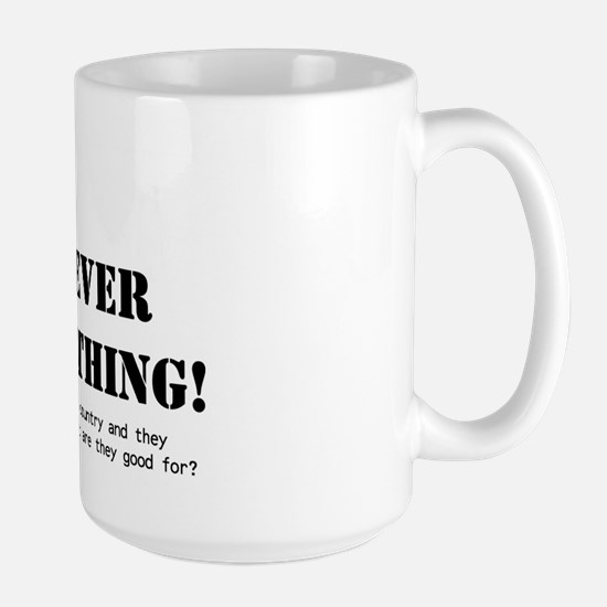 Hippies Never Solved Anything Large Mug