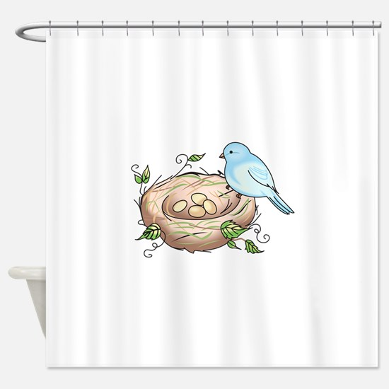BIRD AND NEST Shower Curtain