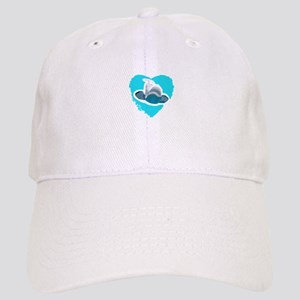BELUGA WHALE IN HEART Baseball Cap