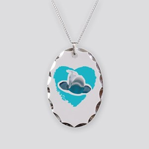 BELUGA WHALE IN HEART Necklace