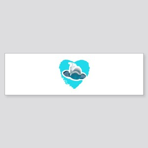 BELUGA WHALE IN HEART Bumper Sticker