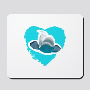 BELUGA WHALE IN HEART Mousepad