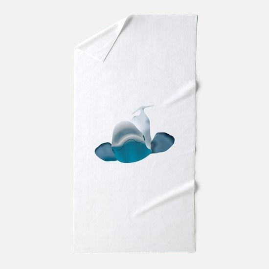 BELUGA WHALE Beach Towel