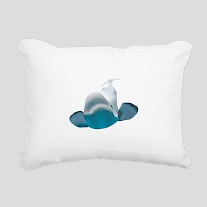 BELUGA WHALE Rectangular Canvas Pillow