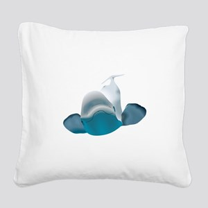BELUGA WHALE Square Canvas Pillow