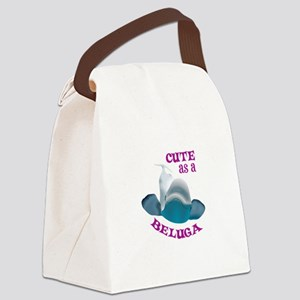CUTE AS A BELUGA Canvas Lunch Bag