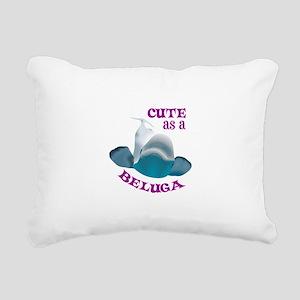 CUTE AS A BELUGA Rectangular Canvas Pillow
