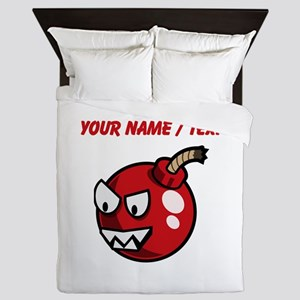 Custom Cartoon Cherry Bomb Queen Duvet