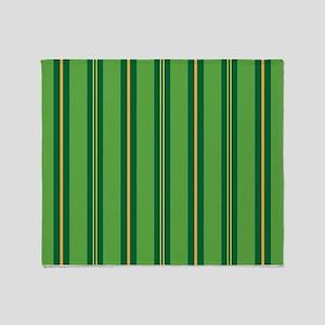 Green Pin Stripe Throw Blanket