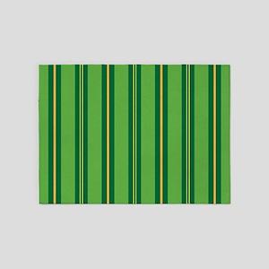 Green Pin Stripe 5'x7'Area Rug
