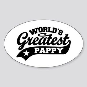 World's Greatest Pappy Sticker (Oval)