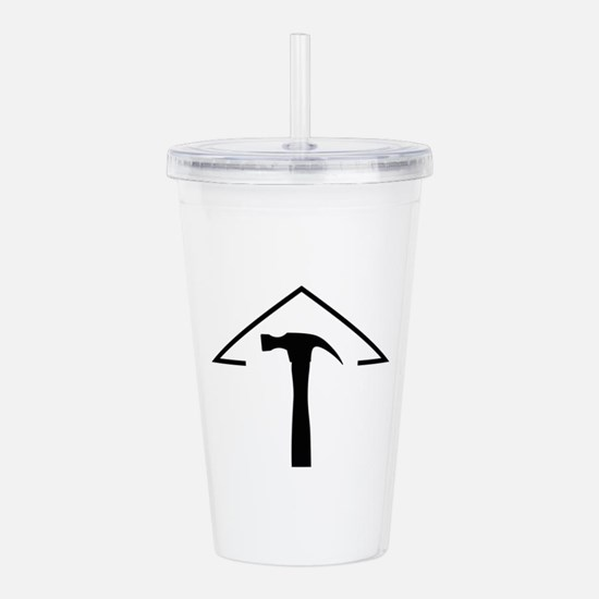 ROOF AND HAMMER Acrylic Double-wall Tumbler