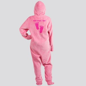 Custom Pink Baby Feet Footed Pajamas