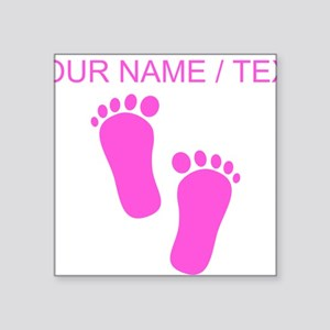 Custom Pink Baby Feet Sticker