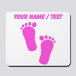 Custom Pink Baby Feet Mousepad