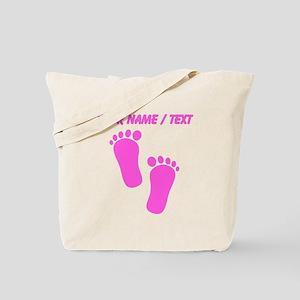 Custom Pink Baby Feet Tote Bag
