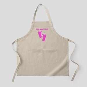 Custom Pink Baby Feet Apron