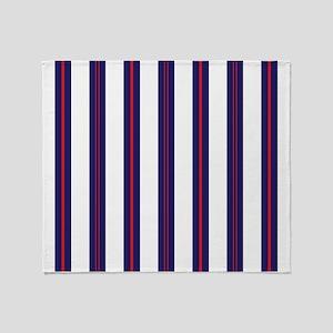 Patriotic Pinstripes Pattern Throw Blanket