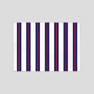 Patriotic Pinstripes Pattern 5'x7'Area Rug