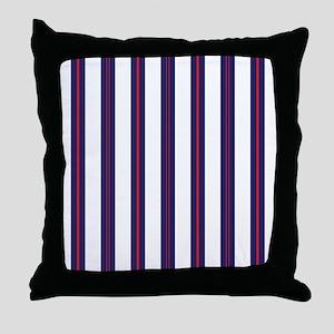 Patriotic Pinstripes Pattern Throw Pillow