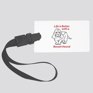 LIFES BETTER WITH BASSET Luggage Tag