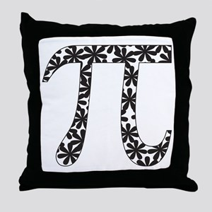 Floral Pi Throw Pillow
