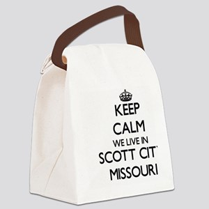 Keep calm we live in Scott City M Canvas Lunch Bag