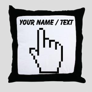 Custom Mouse Pointer Throw Pillow