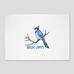 BLUE JAYS 5'x7'Area Rug