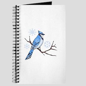 WINTER BLUE JAY Journal