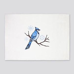 WINTER BLUE JAY 5'x7'Area Rug