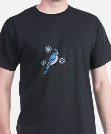 WINTER BLUE JAY T-Shirt