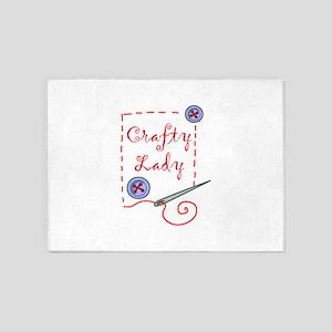 Crafty Lady 5'x7'Area Rug