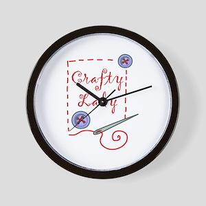 Crafty Lady Wall Clock
