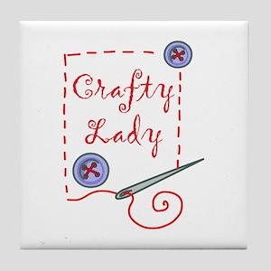 Crafty Lady Tile Coaster