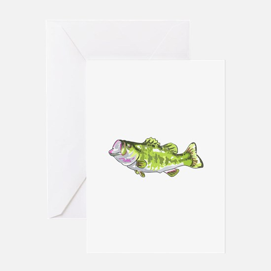 BASS FISH Greeting Cards