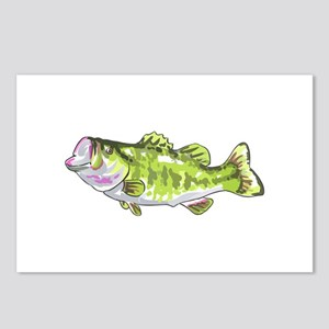 BASS FISH Postcards (Package of 8)