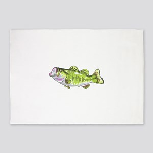 BASS FISH 5'x7'Area Rug