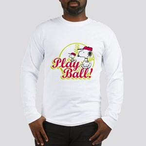Play Ball Snoopy Long Sleeve T-Shirt