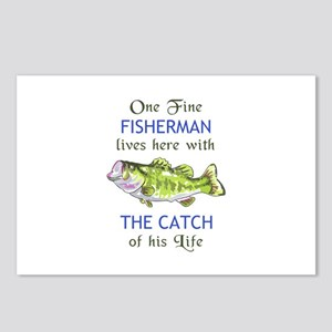 ONE FINE FISHERMAN Postcards (Package of 8)