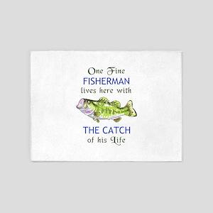 ONE FINE FISHERMAN 5'x7'Area Rug