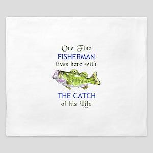 ONE FINE FISHERMAN King Duvet