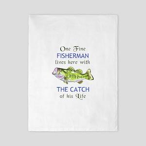 ONE FINE FISHERMAN Twin Duvet