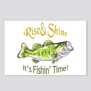 RISE AND SHINE FISHING TIME Postcards (Package of