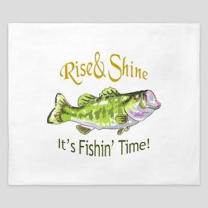 RISE AND SHINE FISHING TIME King Duvet