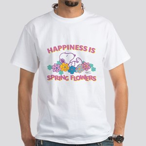 Snoopy Flowers White T-Shirt